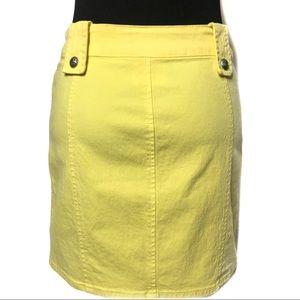 Versace Skirts - Versace Chartreuse Mini Skirt